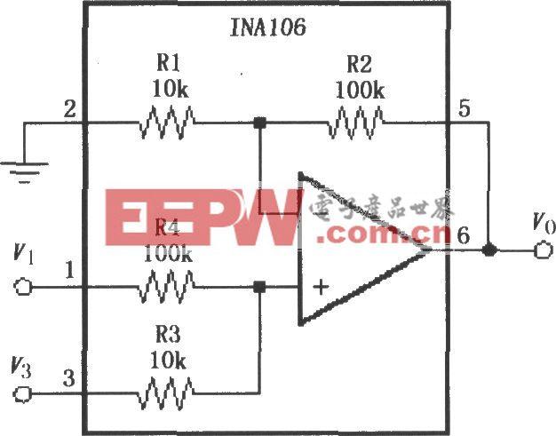 精密加法放大电路(INA106)
