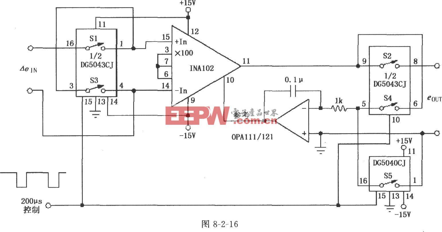 自动调零仪表放大器(INA102)