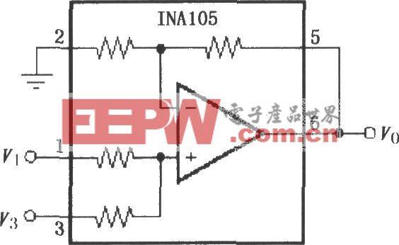 精密加法放大电路(INA105)
