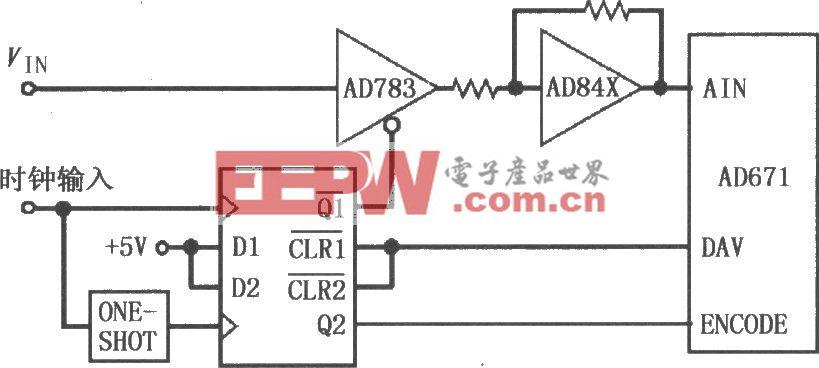 采样保?#22336;?#22823;器AD783与AD671的接口电路