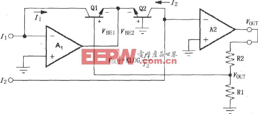 LOG100的简单模式对数放大电路