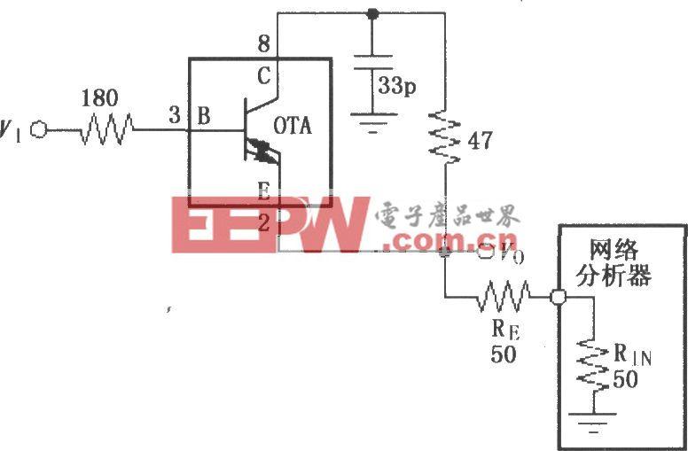 由宽带跨导型运算放大和缓冲器OPA660构成的具有两倍输出电流的电压缓冲电路