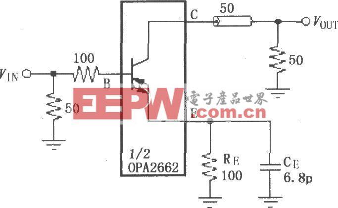 由OPA2662构成的数字440MBit/s发送系统的驱动放大电路