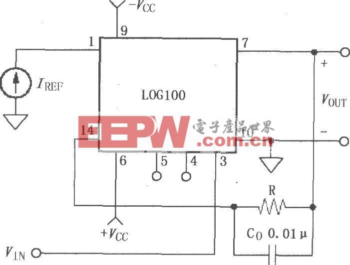 由对数和对数比率放大器LOG100构成的反对数电路