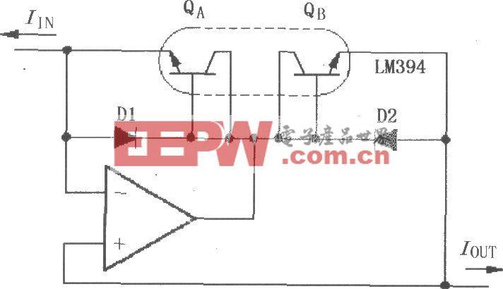 对数与对数比率放大器LOG100的电流反向输入电路