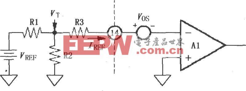 """LOG100输入端的基准电流的""""T""""型网络电路"""