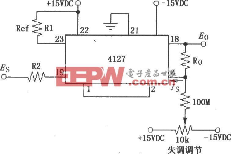 由对数放大器4127构成的反对数电路