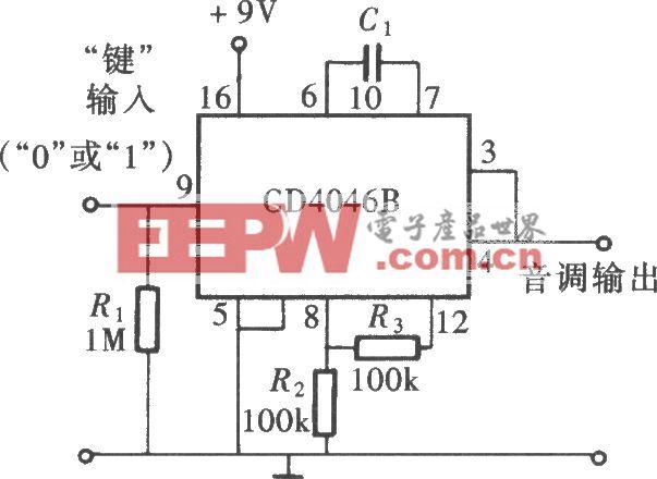 用CD4046组成的方波信号发生器