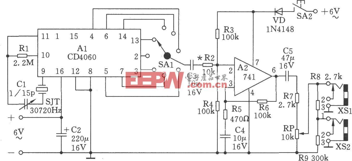 低频信号发生器(2Hz、4Hz、60Hz、120Hz等)