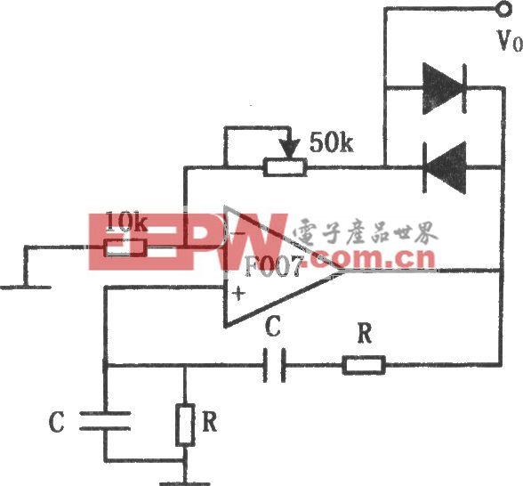 F007构成的稳定的正弦波振荡器