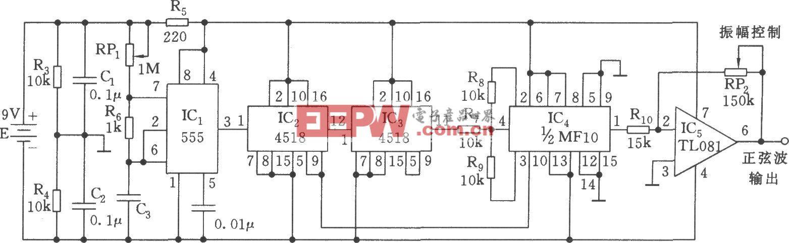 正弦波发生器电路(555)
