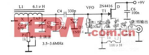 具有电阻调谐的3500~3600kHz可变频率振荡器