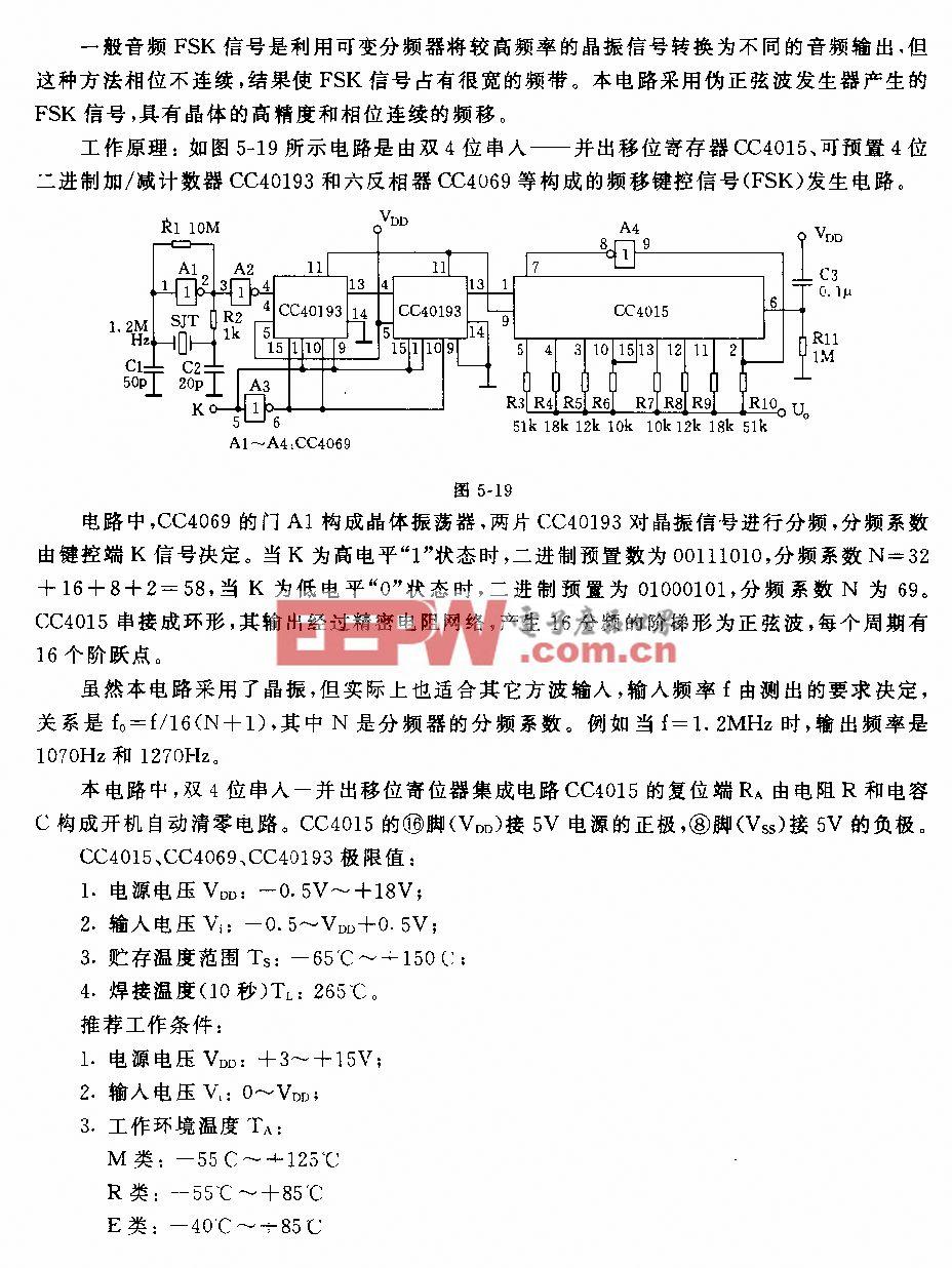 频移键控信号(FSK)发生器电路