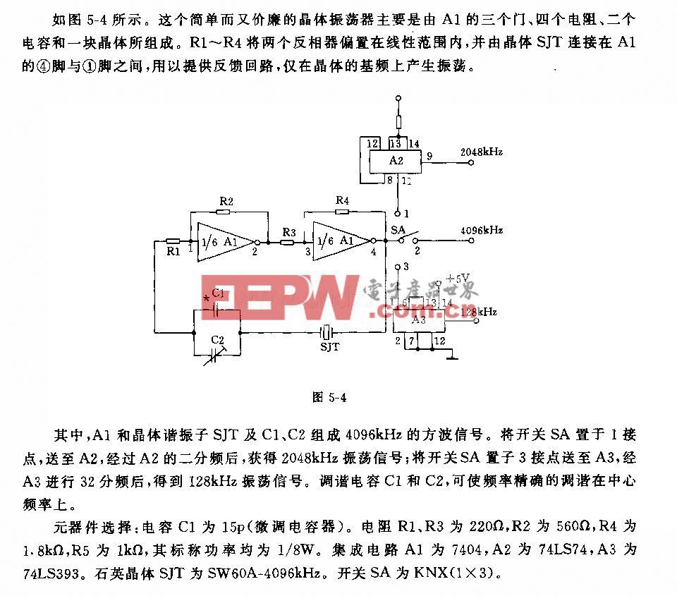 多輸出晶體振蕩器電路