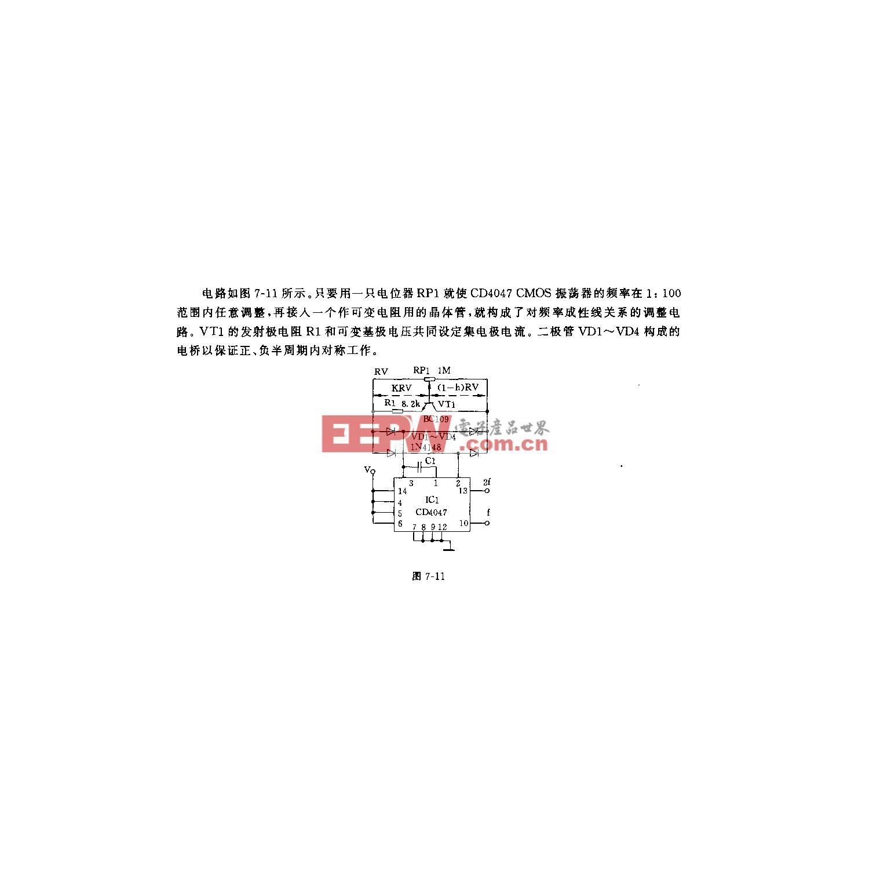 线性CMOS振荡器电路