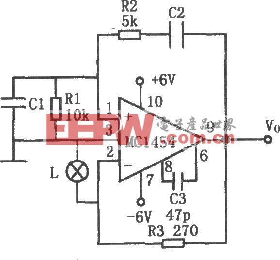 MC1454构成的低功耗文氏电桥振荡器