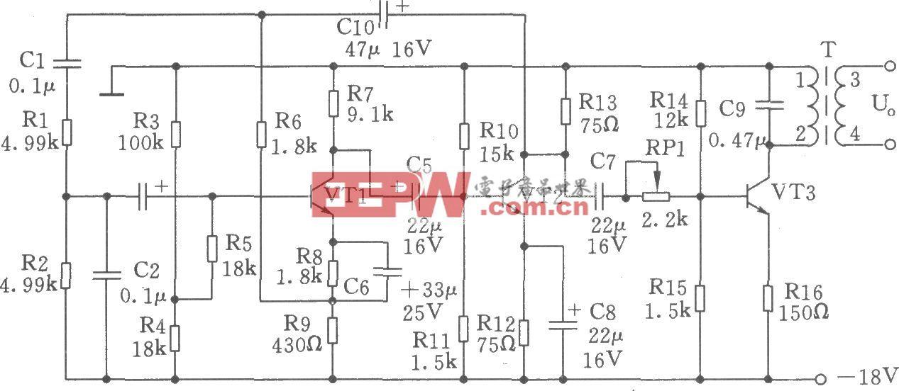 450Hz文氏桥信号发生器