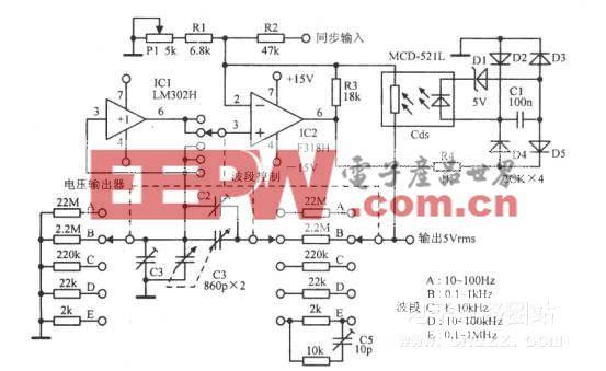 宽频段的文氏桥振荡器