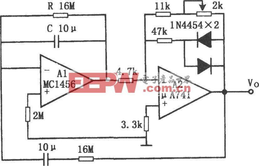 低频文氏电桥正弦波振荡器(MC1456、μA741)