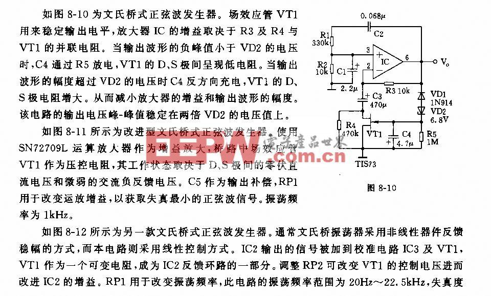 文氏桥振荡器及应用电路