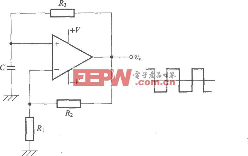 利用运算放大器的方波发生电路