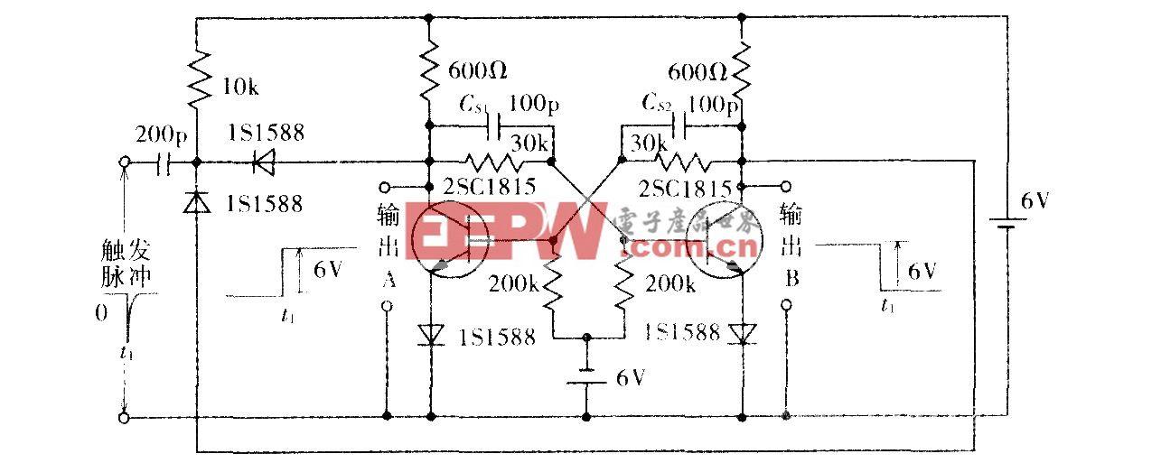 双稳态多谐振荡器电路图