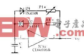 由施密特触发器构成占空比可调的多谐振荡器