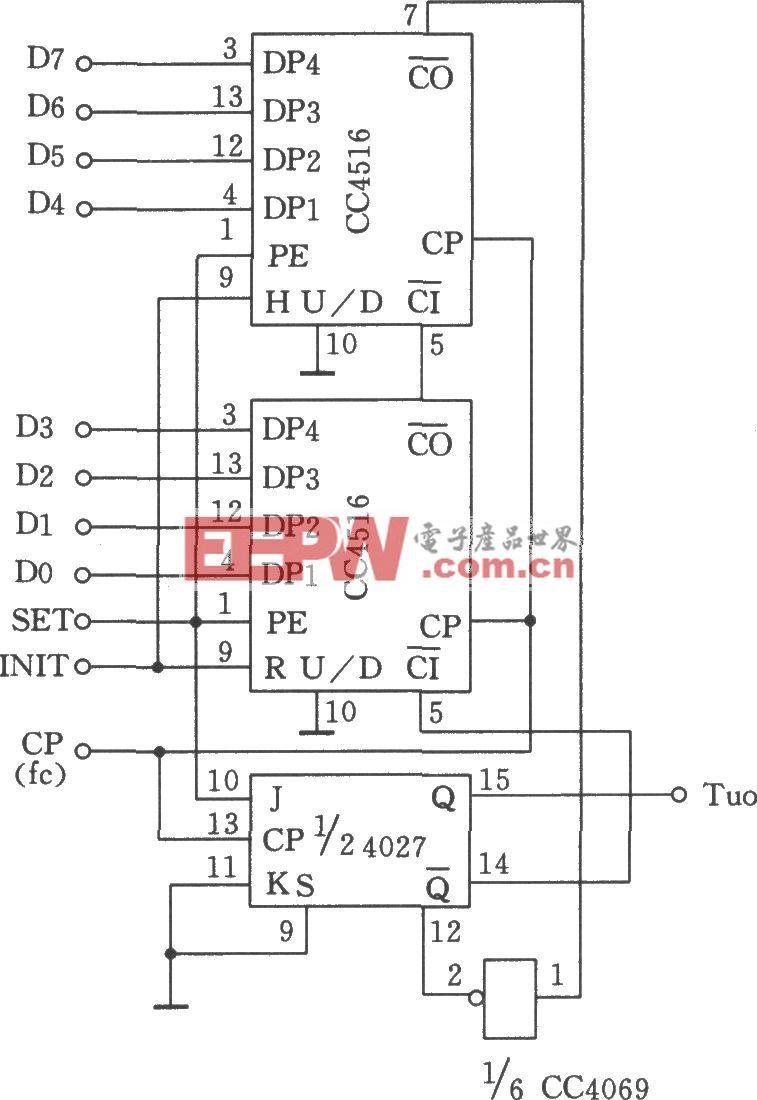 由CC4516组成的脉宽可控的脉冲发生器
