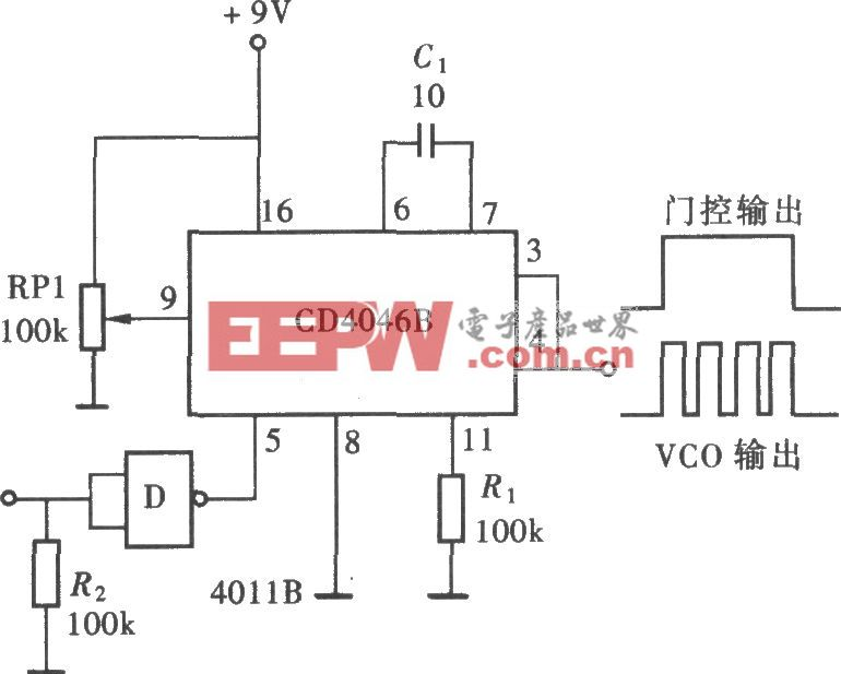 用CD4046输出定量脉冲