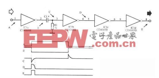采用微分电路的窄脉冲形成电路