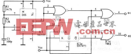 最高频率为1MHz的双相时钟振荡器