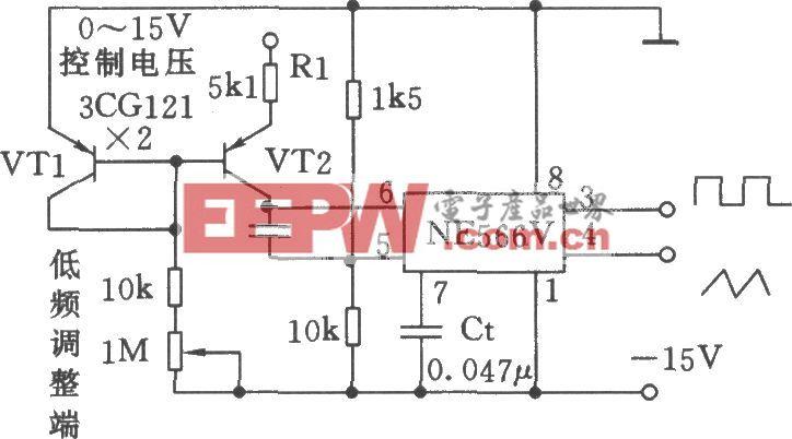 宽范围可控的压控振荡器(NE566V)