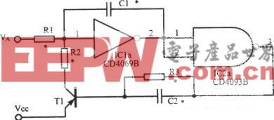 施密特触发器构成的压控振荡器