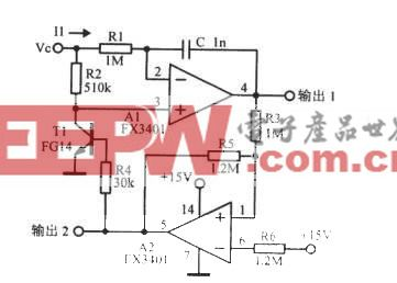 电流型运放组成的压控振荡器