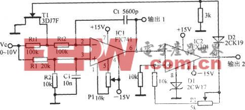 輸出雙向限幅的壓控振蕩器