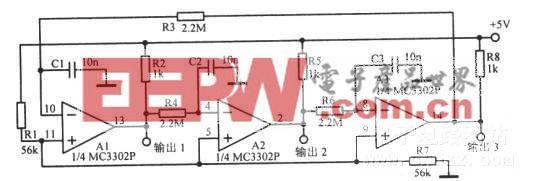 17Hz三相方波振荡电路