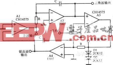 简单的多波形振荡器