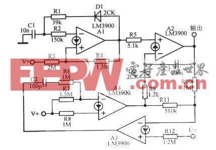 使用电流型运放组成的阶梯波振荡器