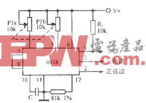 90~900Hz正弦波一方波一三角波振荡器