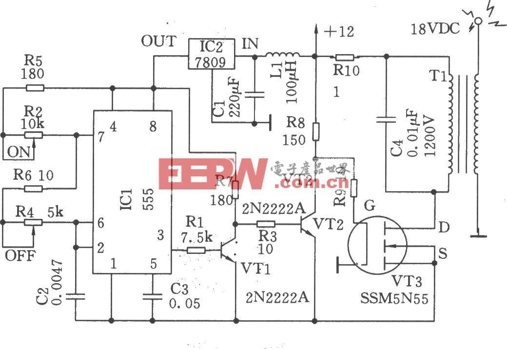 高压发生器(NE555)