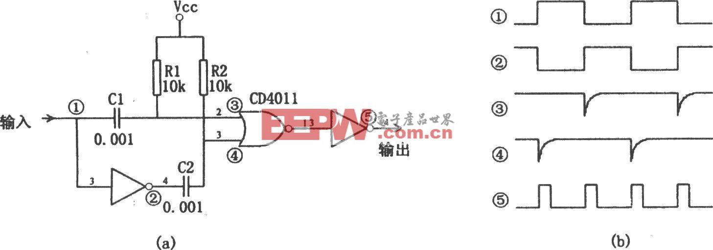 由CMOS组件构成的倍频器