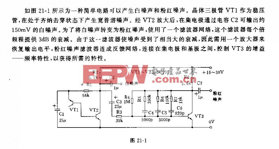 音频噪声发生器电路