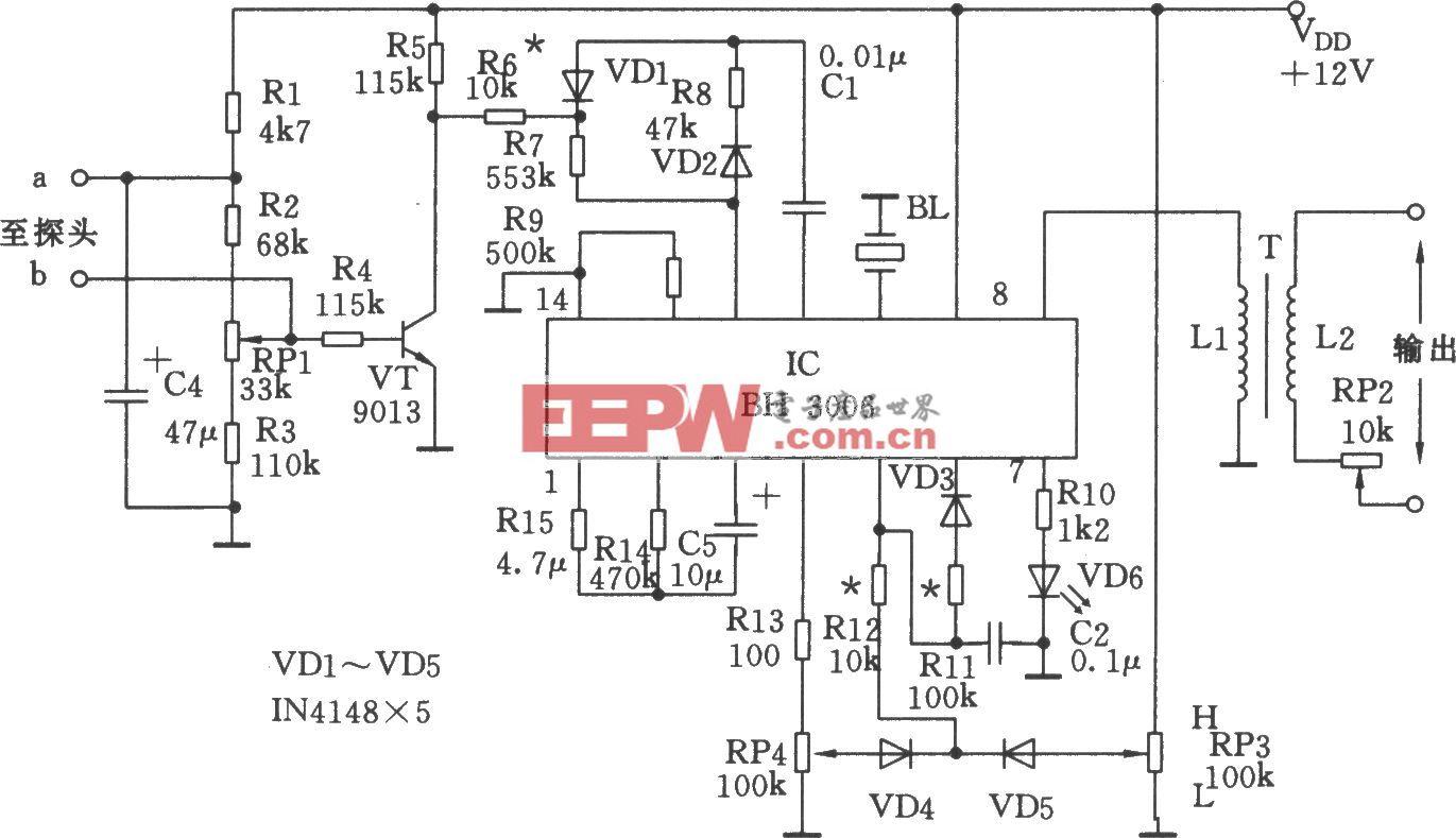 波形发生集成电路BH3006应用电路