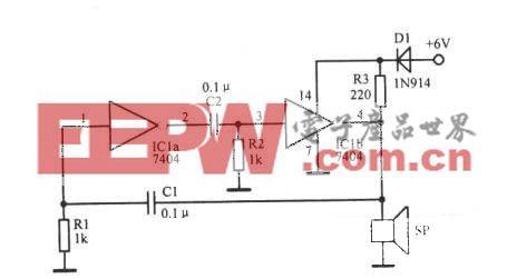 1850Hz数字集成电路振荡器