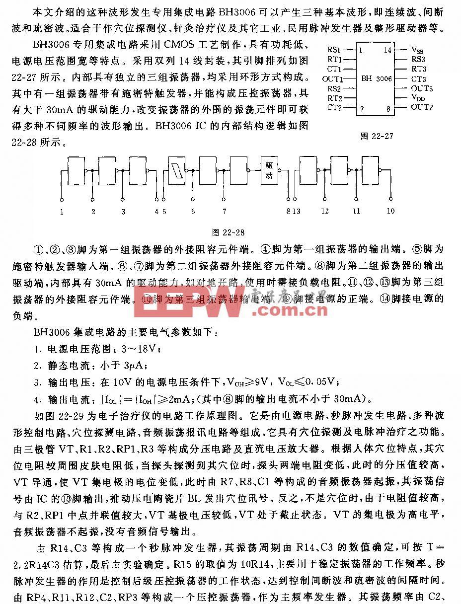 波形发生集成电路BH3006及应用电路