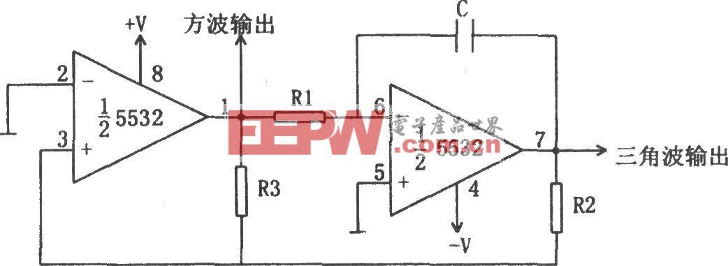 方波和三角波振蕩器(5532)