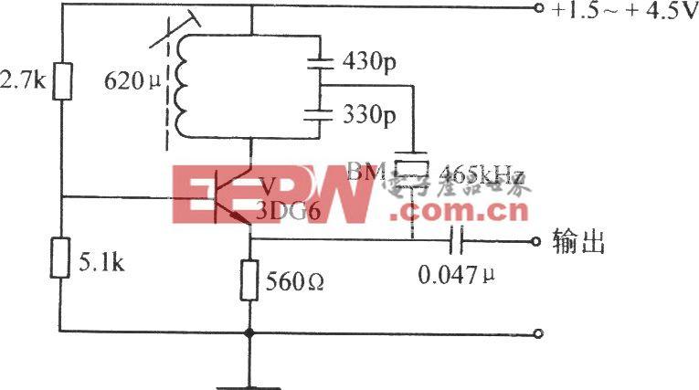 共基极石英控频电容反馈振荡器