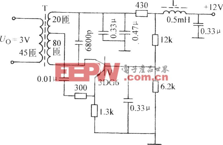 共发射极电感反馈振荡电路