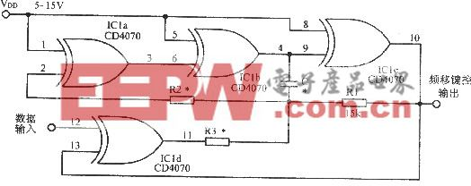 异或门控制振荡器的频率
