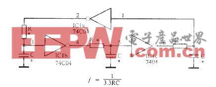 采用CMOS门电路的两级相移振荡器